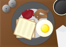 Mesa de desayuno Fotos de archivo