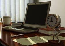 Mesa de escritório ilustração stock