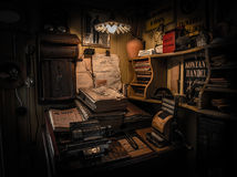Mesa de escritório antiga, Goteborg, Suécia Foto de Stock Royalty Free