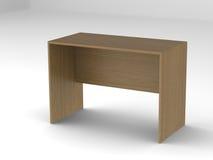 Mesa de escritório de madeira imagem de stock royalty free