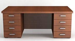 Mesa de escritório de madeira Fotografia de Stock