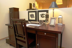 Mesa de escritório Home Foto de Stock