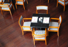 Mesa de jantar fotos de stock