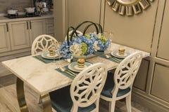 Mesa de jantar Imagens de Stock Royalty Free