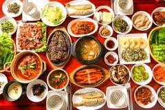 Mesa de jantar coreana saudável imagens de stock royalty free
