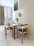 Mesa de jantar do estilo contemporâneo Imagem de Stock