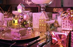 Mesa de jantar do Natal imagens de stock royalty free