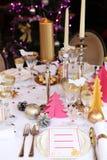 Mesa de jantar do Natal Imagem de Stock