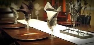 Mesa de jantar luxuosa Fotografia de Stock Royalty Free