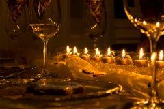 Mesa de jantar solene Imagem de Stock Royalty Free