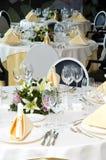 Mesa de la boda Fotos de archivo