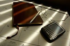 Mesa de las hojas de operación (planning) fotografía de archivo libre de regalías