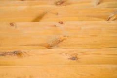 Mesa de madeira amarela para o fundo Imagens de Stock