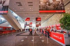 Mesa de registro no centro de convenções ocidental de Moscone Imagem de Stock Royalty Free