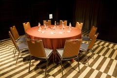 Mesa de reuniones imagenes de archivo
