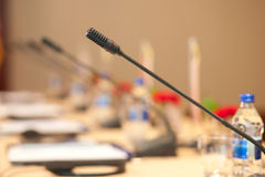 Mesa de reuniones Fotografía de archivo libre de regalías