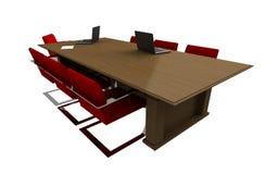 Mesa de reuniones aislada 3d ilustración del vector