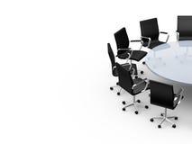 Mesa de reuniones con el espacio de la copia Foto de archivo libre de regalías