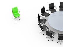 Mesa de reuniones con el espacio de la copia Imagen de archivo libre de regalías