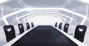 Mesa de reuniones con vista delantera del fondo abstracto Imagen de archivo