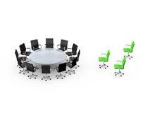 Mesa de reuniones y de la situación concepto hacia fuera Imagenes de archivo
