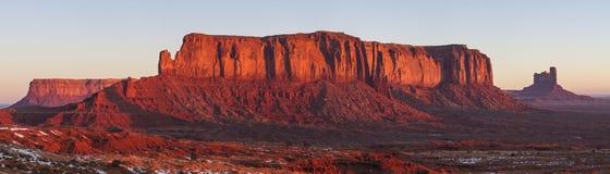 Mesa de Sentinal e nascer do sol do vermelho indiano do ig fotografia de stock royalty free