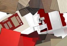 Mesa de trabajo del diseño interior imagen de archivo libre de regalías