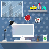Mesa de trabalho em New York Imagem de Stock