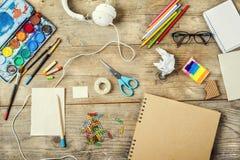 Mesa de um artista Fotografia de Stock