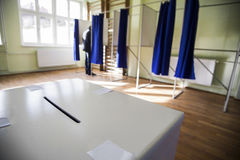 Mesa de voto Foto de Stock