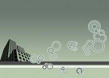 Mesa del concepto del edificio stock de ilustración