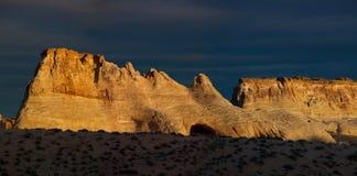 Mesa del desierto en la salida del sol Imagen de archivo