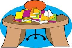 Mesa desarrumado Imagem de Stock Royalty Free
