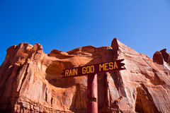 MESA di Dio della pioggia; Parco nazionale della valle del monumento, Arizona Fotografia Stock Libera da Diritti