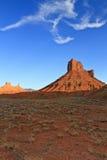 MESA di Parriott, erba del deserto e nube Fotografia Stock
