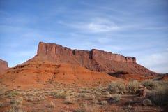 MESA di Parriott vicino alla valle del castello, Utah Fotografie Stock