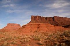 MESA di Parriott vicino alla valle del castello, Utah Fotografia Stock Libera da Diritti