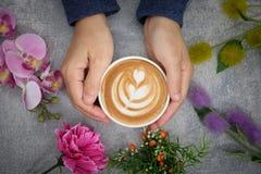Mesa do café Imagem de Stock Royalty Free