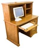 Mesa do computador de escritório Home fotografia de stock