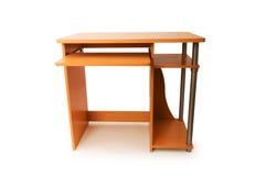 Mesa do computador isolada Fotos de Stock Royalty Free