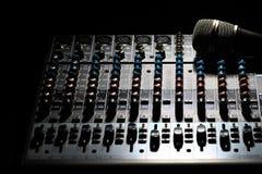 Mesa do misturador da música Imagem de Stock