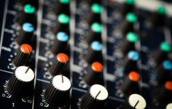 Mesa do misturador da música Imagem de Stock Royalty Free