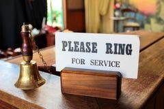 Mesa do ` s da recepção Fotos de Stock Royalty Free