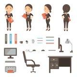 Mesa do trabalho ilustração do vetor