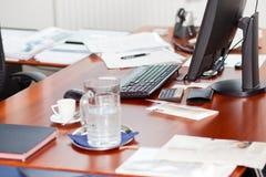 Mesa dos gerentes Imagem de Stock