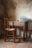 Mesa e cadeira Foto de Stock Royalty Free
