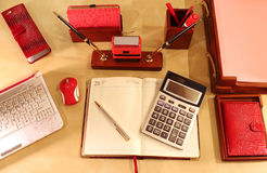 Mesa elegante para la señora del negocio Foto de archivo