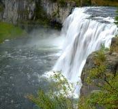 Mesa Falls Large Waterfall River Canyon Powerful Royalty Free Stock Photography