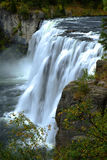 Mesa Falls Large Waterfall River-Krachtige Canion Royalty-vrije Stock Afbeelding