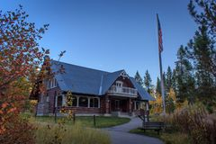Mesa Falls Visitor Center arkivfoton